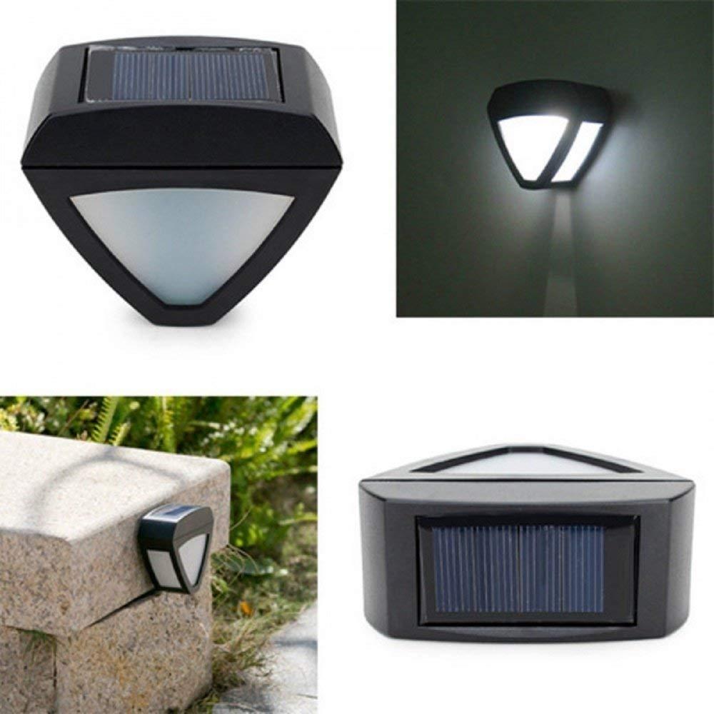 Svitlife Garden Solar Power LED Light Outdoor Courtyard Waterproof Aisle Lamp Black