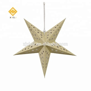 New Products Ideas 2018 60cm Gold Laser Glitter Paper Golden Stars India Hanging