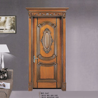 New disign high quality deluxe wood front door for home