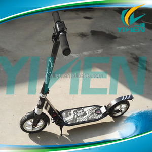 aluminum adult push dirt scooter inflatable air tire wheel kick scooter