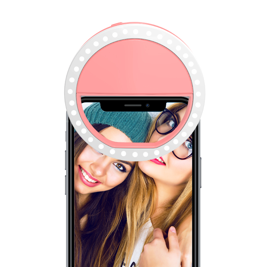Factory Direct Supply flash LED Selfie Ring Light USB Oplaadbare Led Licht voor iphone
