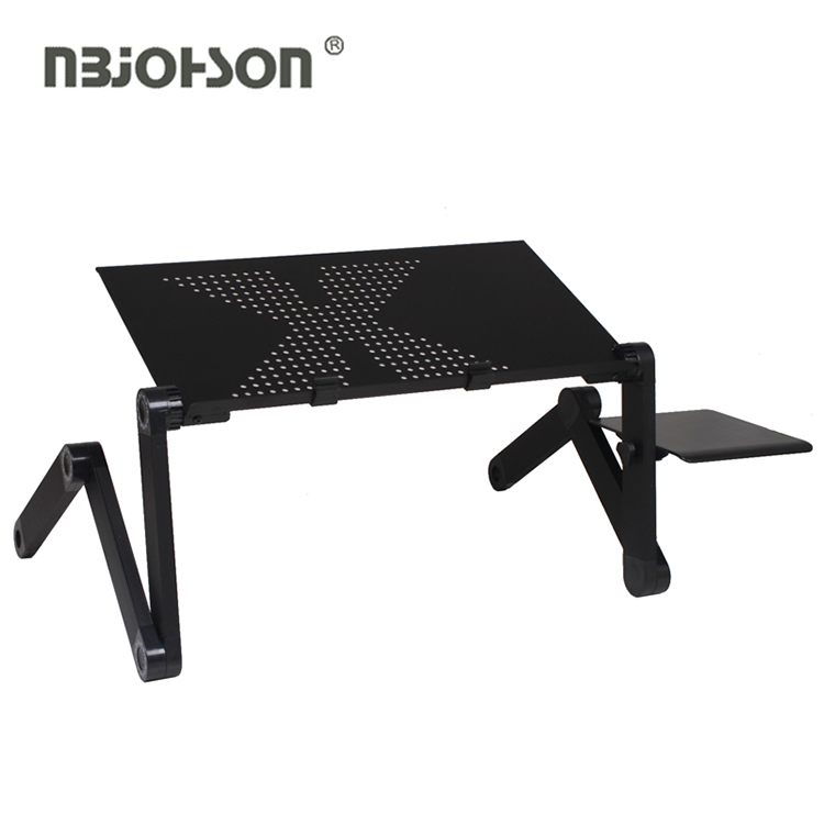height adjustable laptop stand aluminum foldable for bed