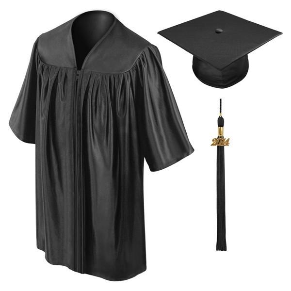 Custom Made Adorable Children's Graduation Gown Black Kindergarten ...