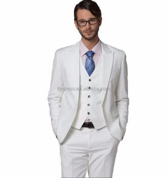 Custom Men\'s Suit White Wedding Formal Occasion Suits Dress Sethigh ...