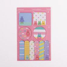Карамельные цвета кавайная панда блокнот бумажные наклейки Мультяшные заметки для детей подарок корейские канцелярские принадлежности(Китай)