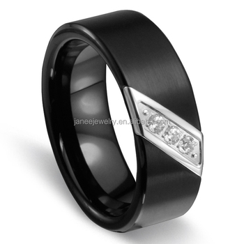 71edec7241d3 Compras en línea de Canadá de boda diamante anillo anillos boda banda Banda  IP Chapado en