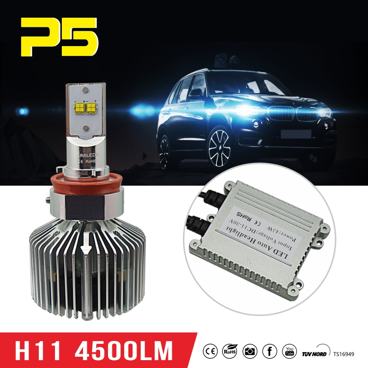 Chinese wholesaler H8 45W 4500LM Car LED headlight with higher luminance and power parts of car