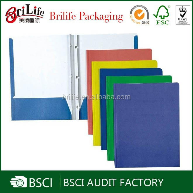 Cheap hot selling paper cardboard file folder