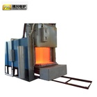 Heat treatment trolley type resistance furnace for big machine parts and metal parts