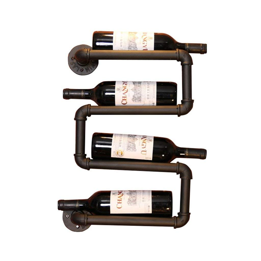 Western Horseshoe Wine Bottle Holder Table Top Rack Decor Christmas