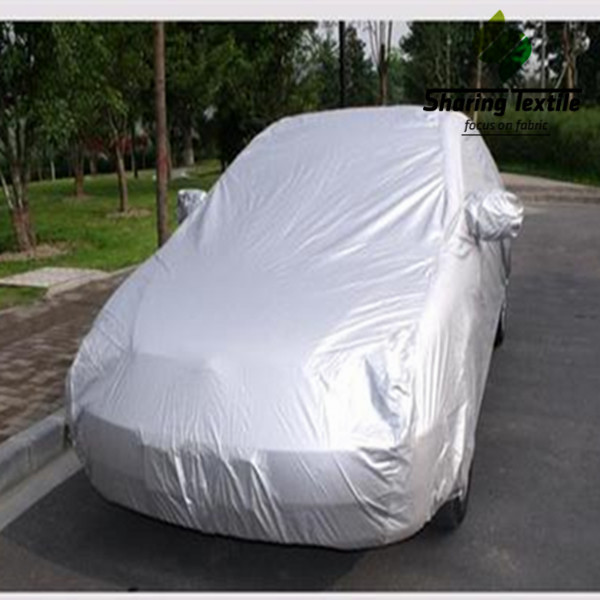 Wholesale Cheap Price of Silver 170T/190T/210T Taffeta Bonded With Non Woven Car Cover Fabric