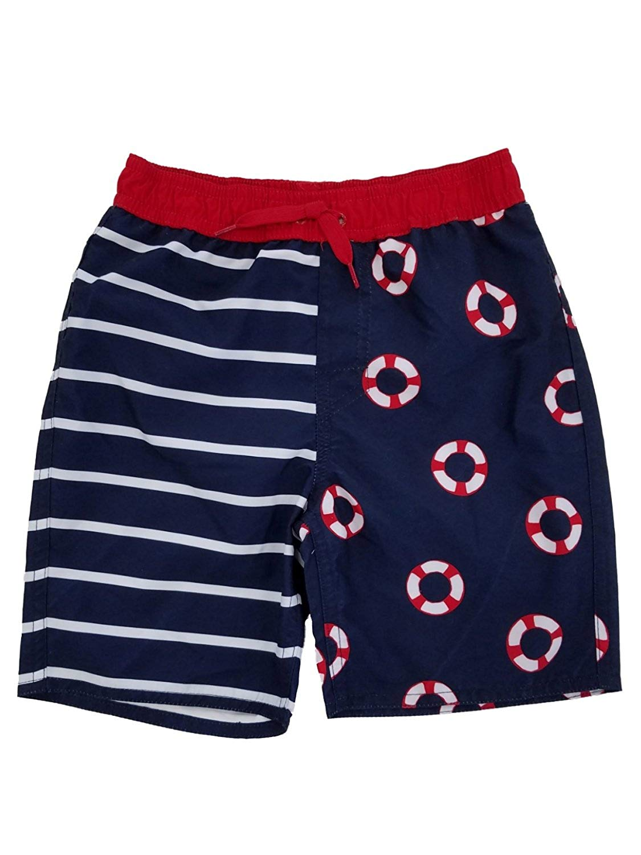 684600b6ba Get Quotations · Arizona Jeans Toddler Boys Red White & Blue Life Preserver Swim  Trunks Board Shorts