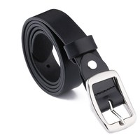 Fashion Wild Best selling Smooth Leather Belt for Female Stainless Steel Buckle Favorite type