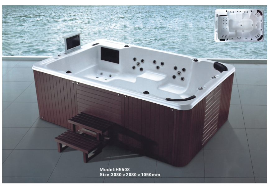 Cbmmart Outdoor Acrylic Bathtub Hot Tub Large Spa For 8 Person - Buy ...