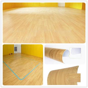 Wood Grain Color Decorative Pvc Kitchen Floor Sticker Wood Grain