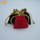 Newest Mini Velvet Jewelry Pouch Bag With Top Golden