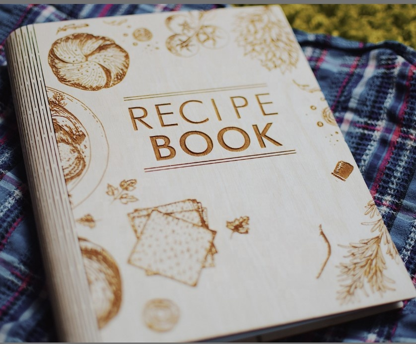 व्यक्तिगत लकड़ी नुस्खा पुस्तक नुस्खा जर्नल कुक बुक