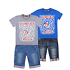 boy casual clothes suit t-shirt+jean shorts summer kid garment brands