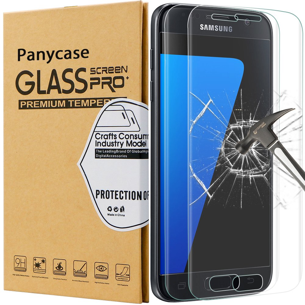 [2-Pack]Samsung galaxy S7 Tempered Glass Screen Protector,S7 Screen Protector,Galaxy S7 Screen Protector ,Panycase Samsung Galaxy S7 Screen Protector