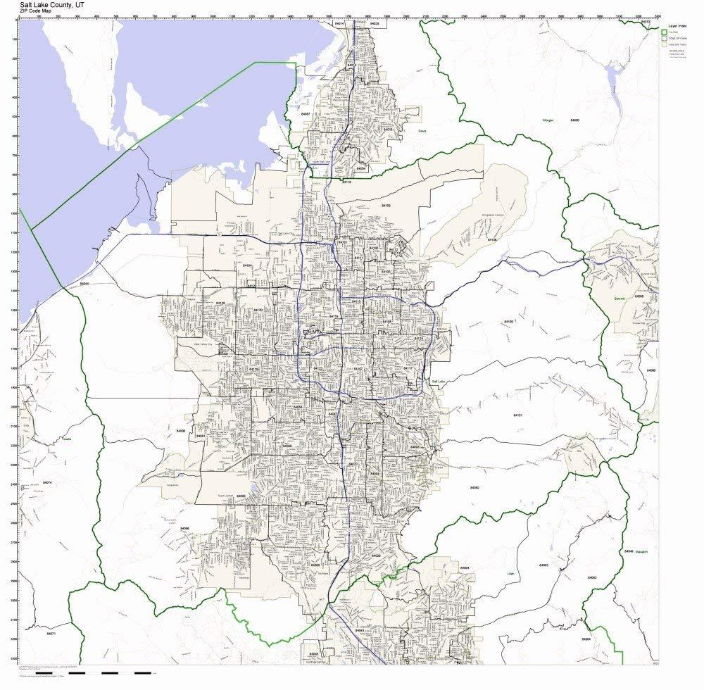 Zip Code Map Utah on