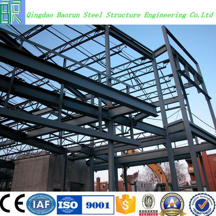 Prefabricated Two Story Steel Structure Warehouse