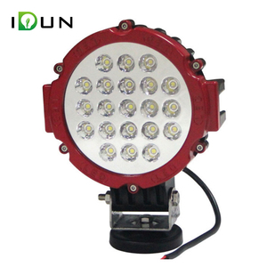7 Inch Red Offroad JEEP 4x4 Tractor 63w Led Work Round Light