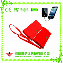 Single usb 4000mah funny unique wallet power bank with keychain
