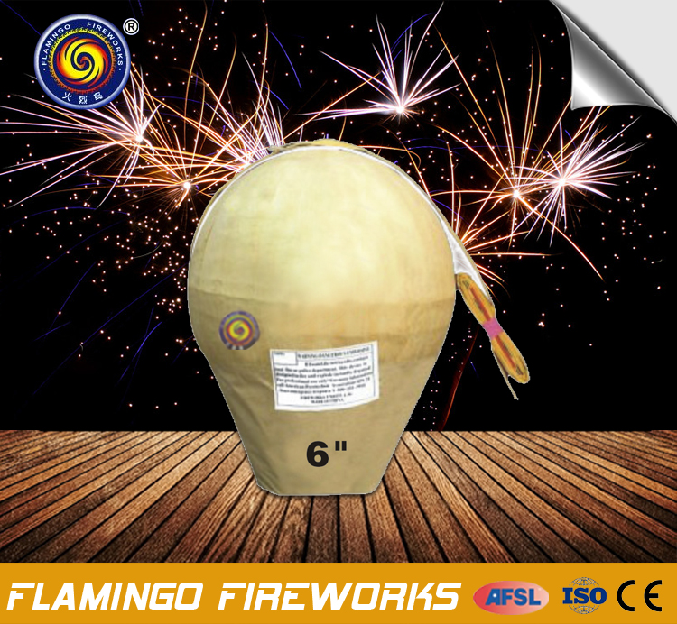 "Latest new design 6"" Display Shell chemical formula fireworks"