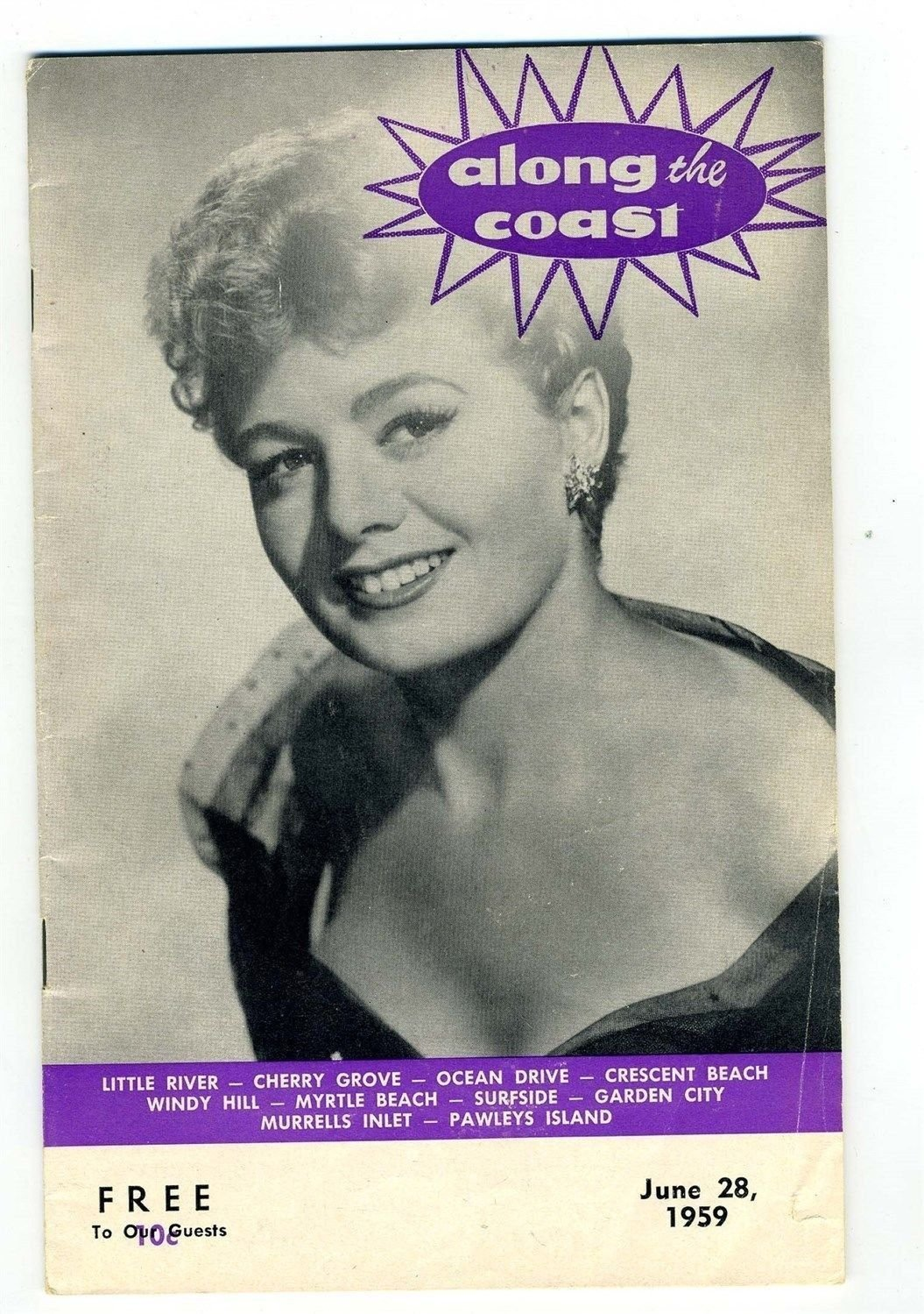 Along The Coast 1959 Myrtle Beach Magazine Shelley Winters Cover