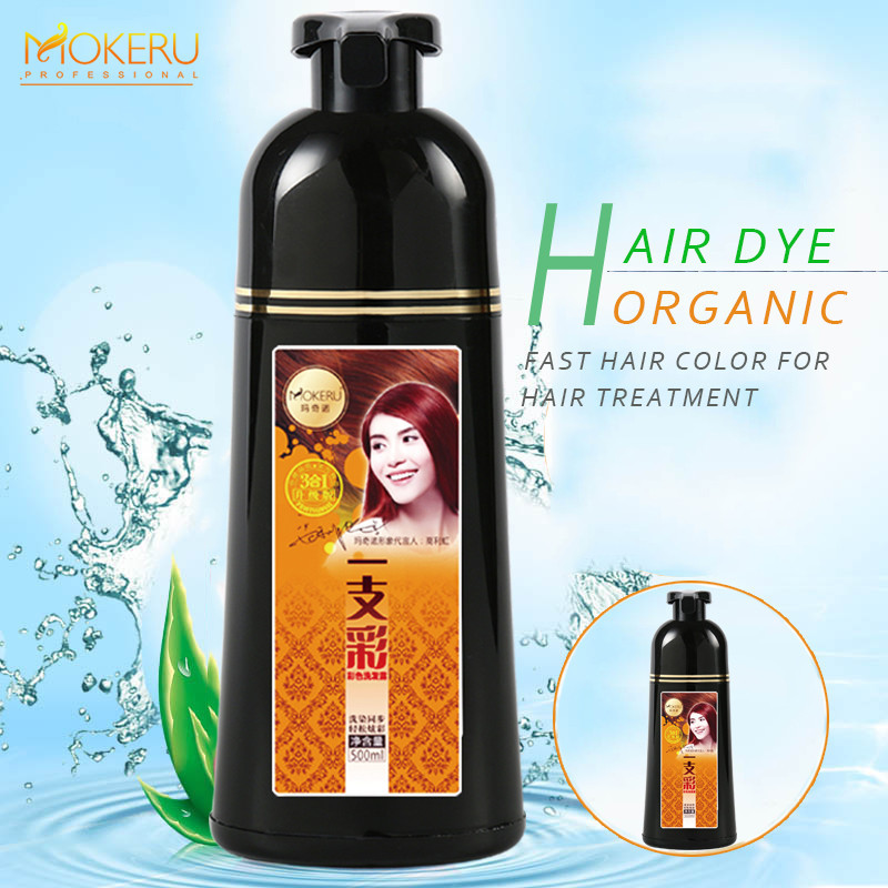 Permanent best organic hair dye fast ammonia free hair color shampoo blackening shampoo for women