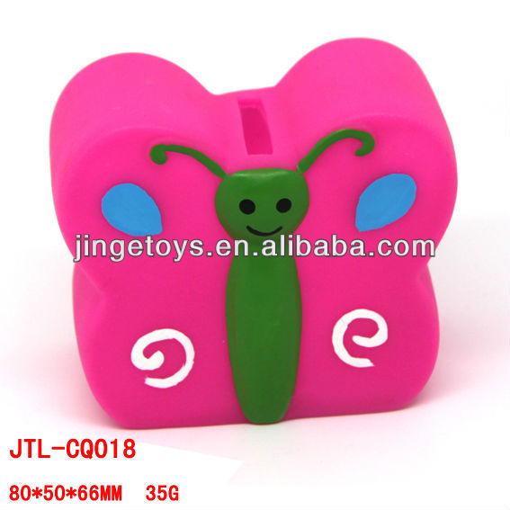 Novelty butterfly plastic piggy bank for children