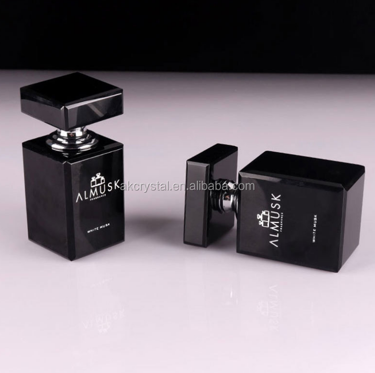 Hot sale luxury attar bottles, empty refillable colorful crystal material perfume oil fragrance bottle