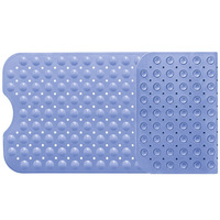 Non Slip Extra Large Shower Mat Bath Tub Antibacterial Safety Matting Skid Long Rectangle Tub Floor Grip For Kids And Elderly