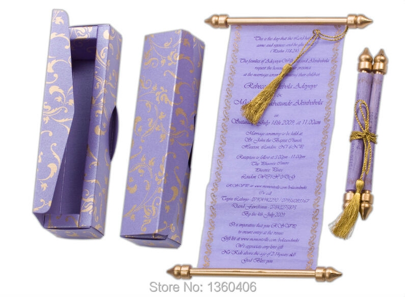 Boxed Wedding Invitations Wholesale: Scroll Wedding Invitations Card Wholesale Party Wedding