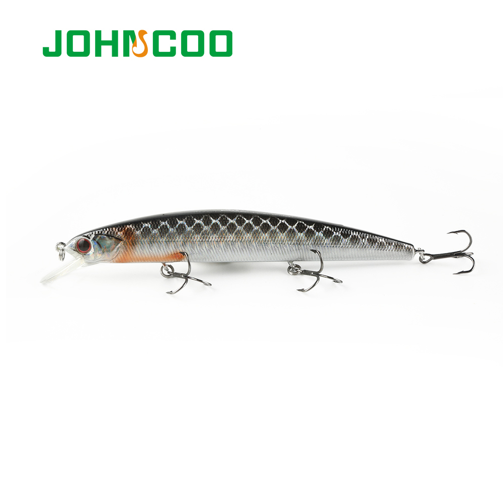 JOHNCOO Minnow Fishing Lure 130mm 20g Hard Bait Long Casting Wobbler Lure Professional Bass Pike Bait Suspend Lure