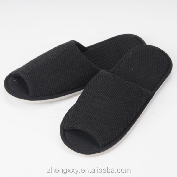Hot sale !! The Black Open Toe Slippers Disposable Use