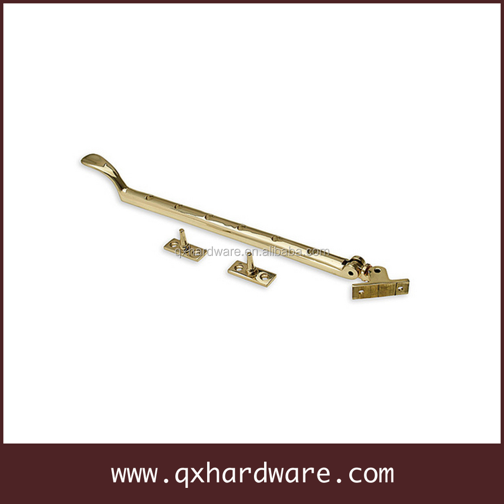 "13"" brass casement window stay, window hardware"