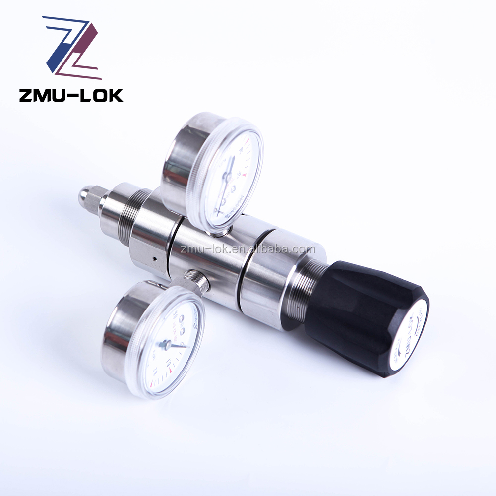 spring loaded two stage pressure regulator 316 stainless steel