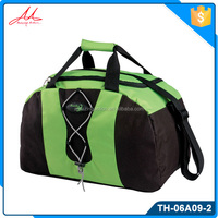 Popular durable cheap green pvc softback promotional sport bag