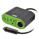 100W Power Inverter w/2 USB Ports,1 Ac Outlet & DC