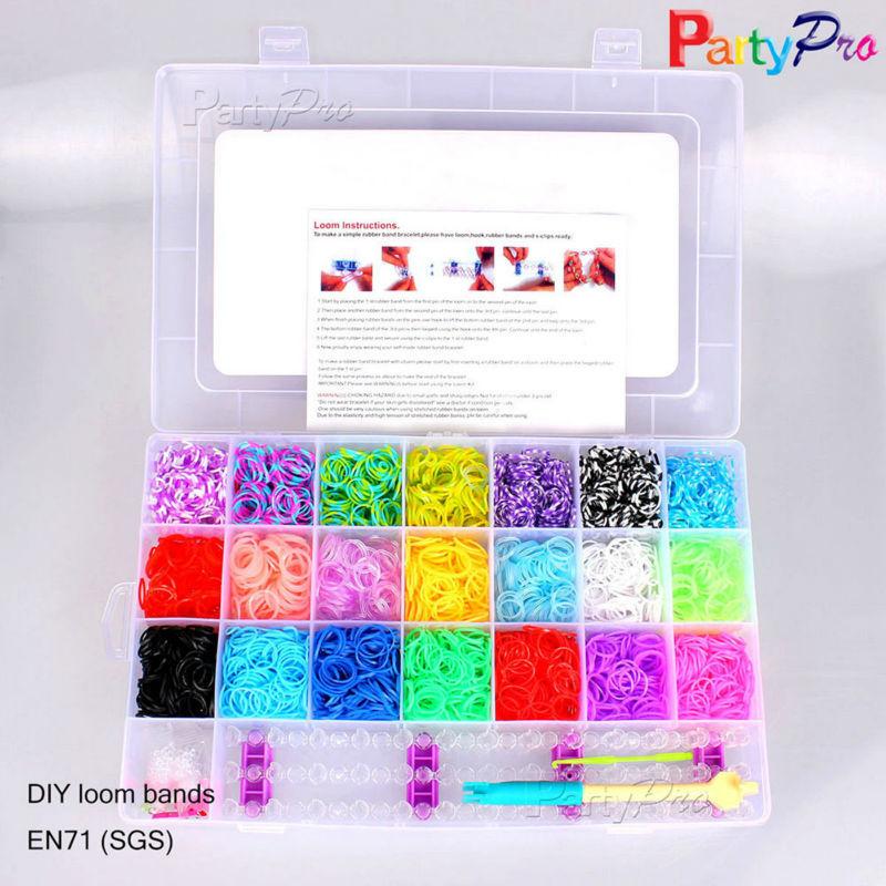 Wholesale Neon Elastic Diy Rain Rubber Band Weaving Bracelet Cheap