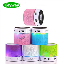 2017 Factory price Portable Mini led light smart wireless Bluetooth Speakers s10 with FM radio