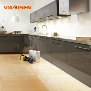Stable performance factory directly lacquer modular black kitchen cabinet