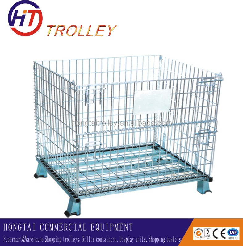 Medium Duty Scale and Wire Container Type Stock Picking Cage Trolley Wholesale