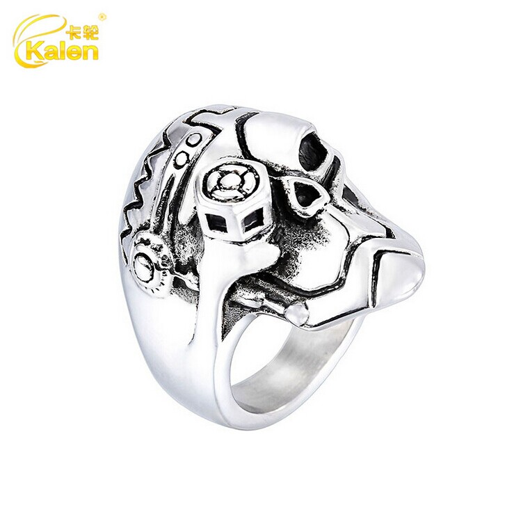 Exquisite Casting 316L Stainless Steel Skull Ring for Men