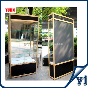 Exhibition Accessories Tall Display Cabinet Glass Mirror, Wholesale Glass  Display Cases With Light