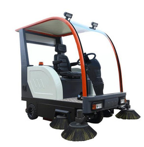 simi-closed vacuum spray floor ride-on electric sweeper