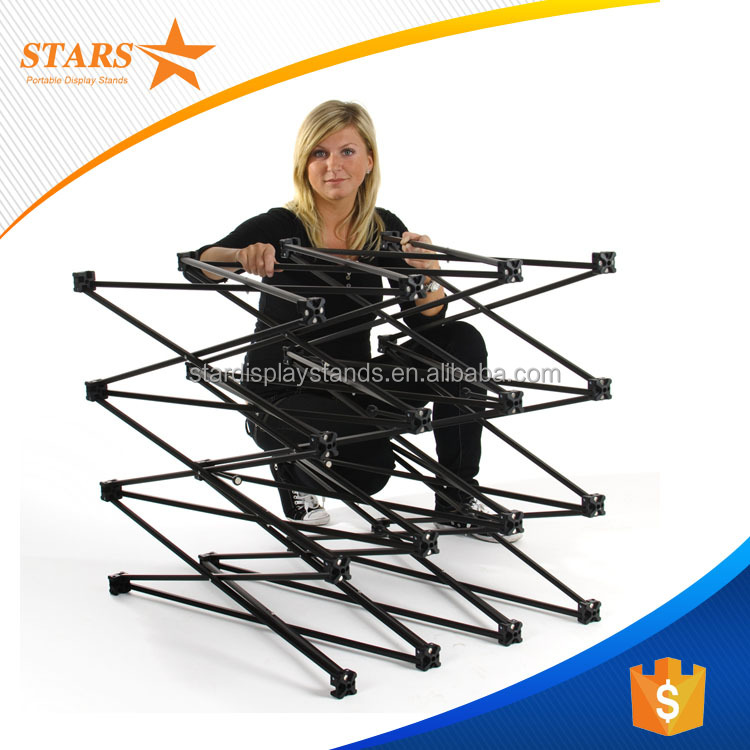 Big Promotion 1.6cm Iron Portable Backdrop Stands , Magnetic Pop Up Display Stand Banner Stands