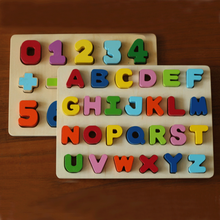 Wooden Alphabet Jigsaw Board Learning Educational Baby Kids toys puzzle for children Gift Montessori