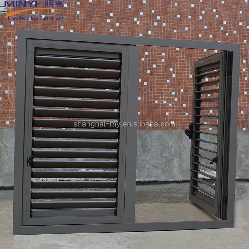 Exterior Glass Louver Doorinterior Glass Doorsaluminum Shutter